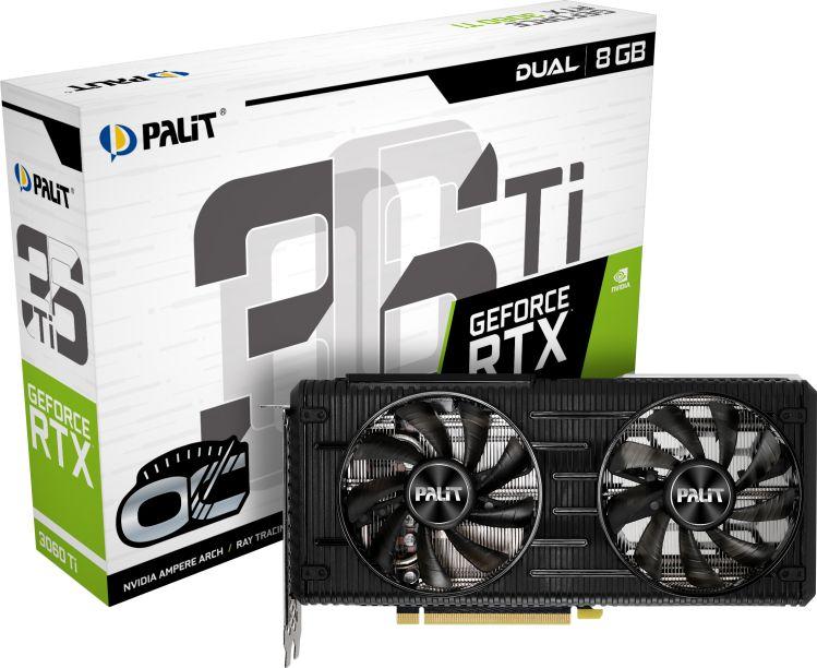 PALIT GeForce RTX 3060Ti Dual OC 8GB video karte