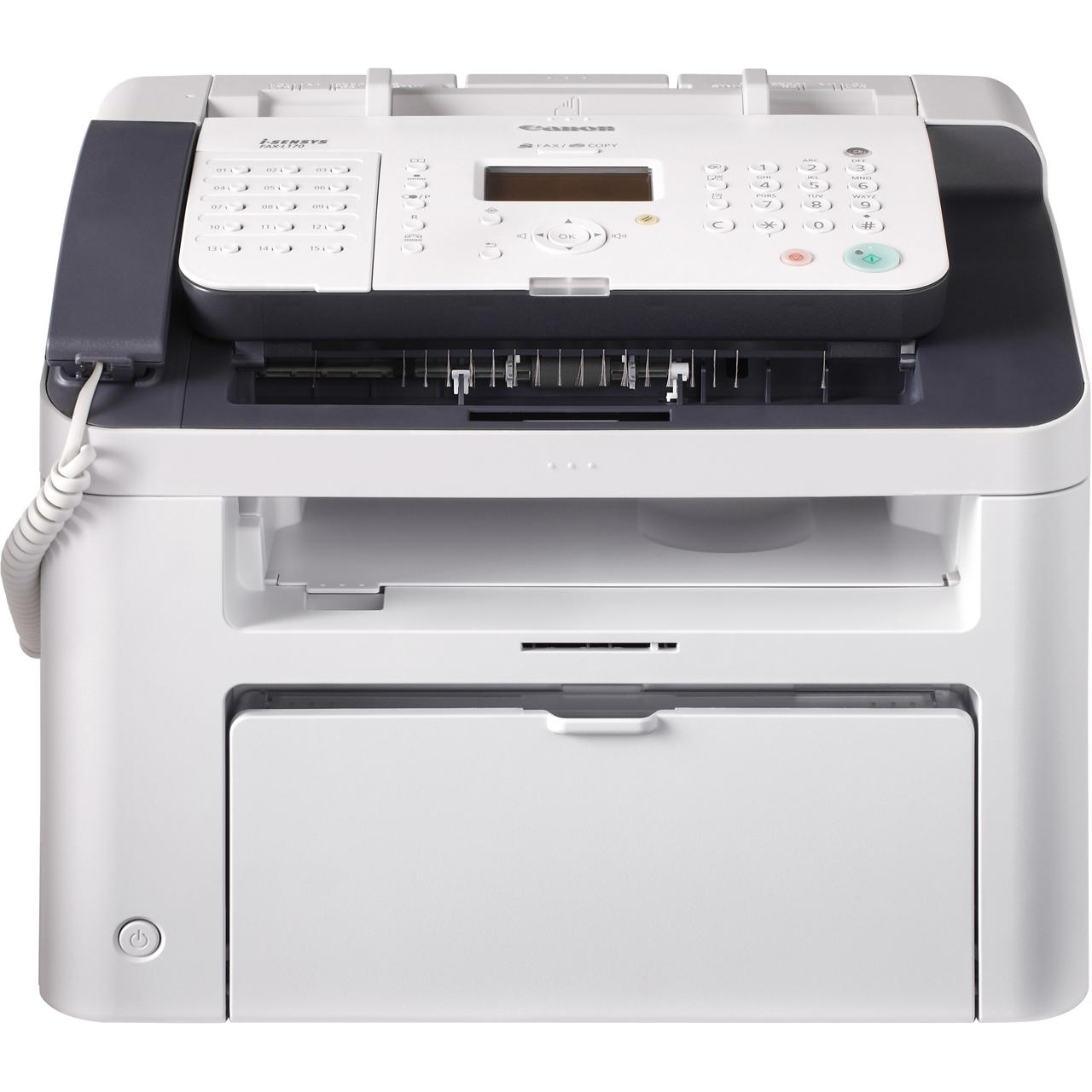 Canon i-SENSYS FAX-L170 Laser-Multifunktionsfax s/w 5258B056(A4, 3-in1, Drucker, Kopierer, Fax, USB, ADF)