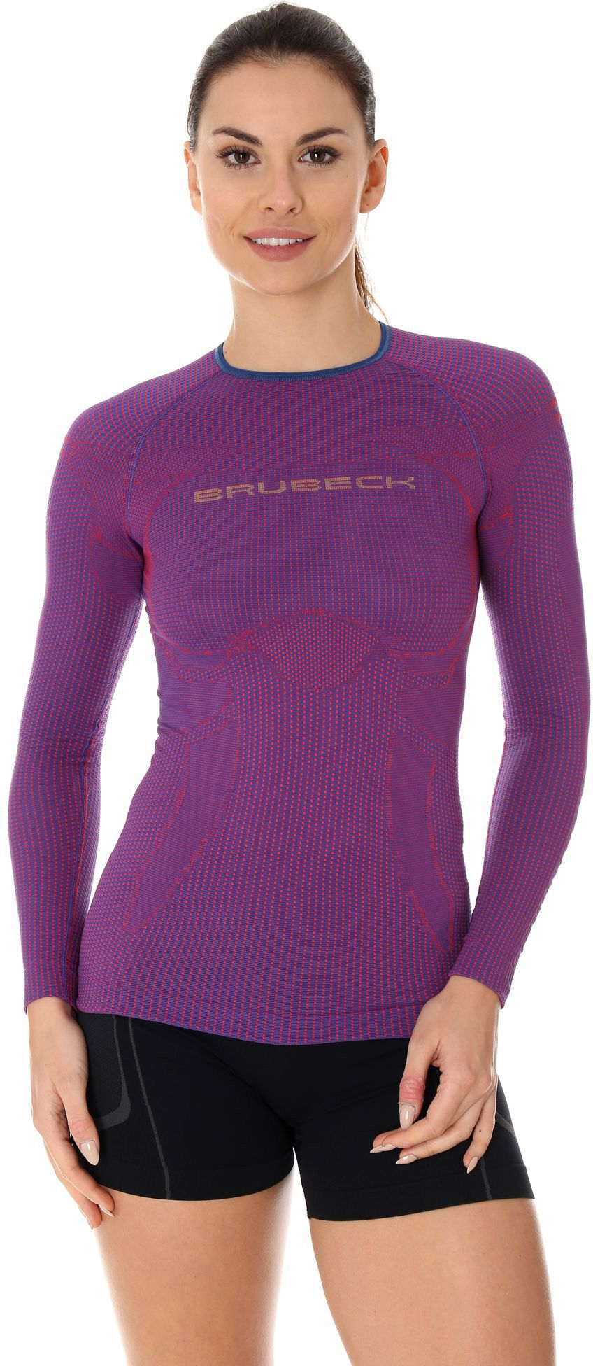 Brubeck Koszulka damska 3D Run Pro purpurowa r. M (LS13140) 4773370