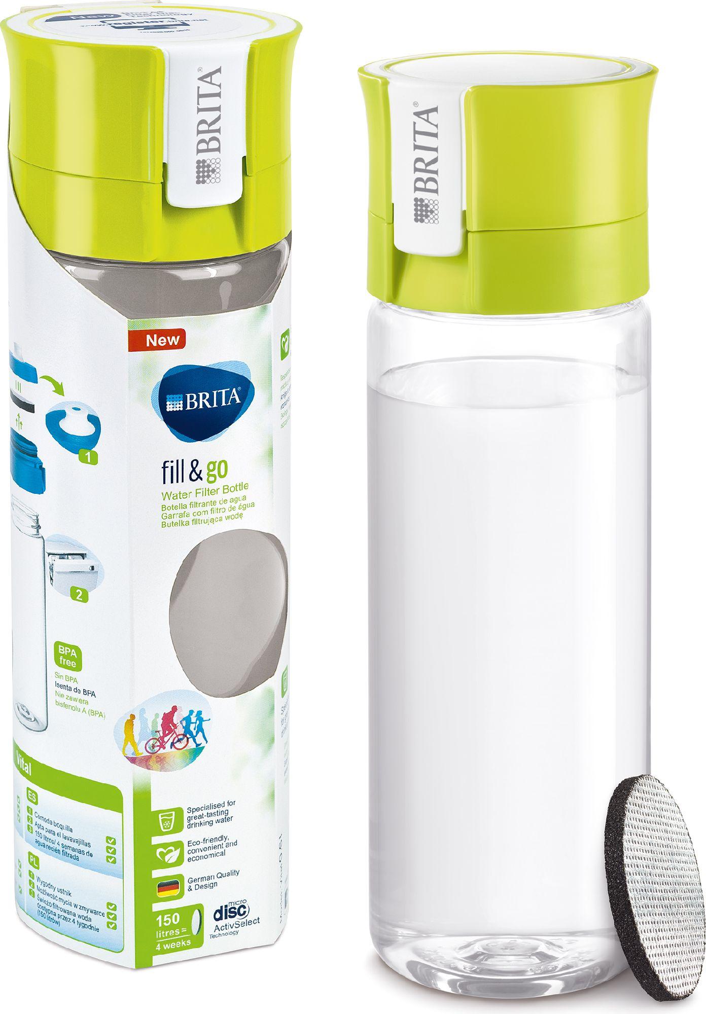 Brita filter bottle fill & go Vital green 600ml Sporta aksesuāri