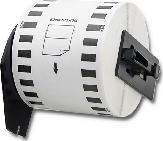 Qoltec Tape for BROTHER DK-22205 62mm uzlīmju printeris