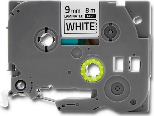 Qoltec 50237 Tape for BROTHER TZe-221 | 9mm x 8m | White / Black overprint  rezerves daļas un aksesuāri printeriem
