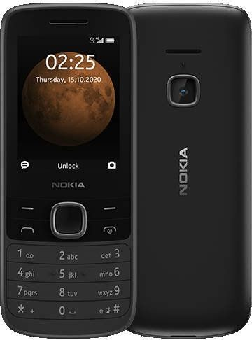 Nokia 225 4G TA-1316 Black, 2.4 , TFT, 240 x 320 pixels, 64 MB, 128 MB, Dual SIM, Nano-SIM, 3G, Bluetooth, 5.0, USB version MicroUSB, Built- Mobilais Telefons