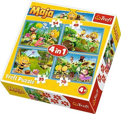 Trefl Puzzle 4in1 Maya the Bee adventures puzle, puzzle