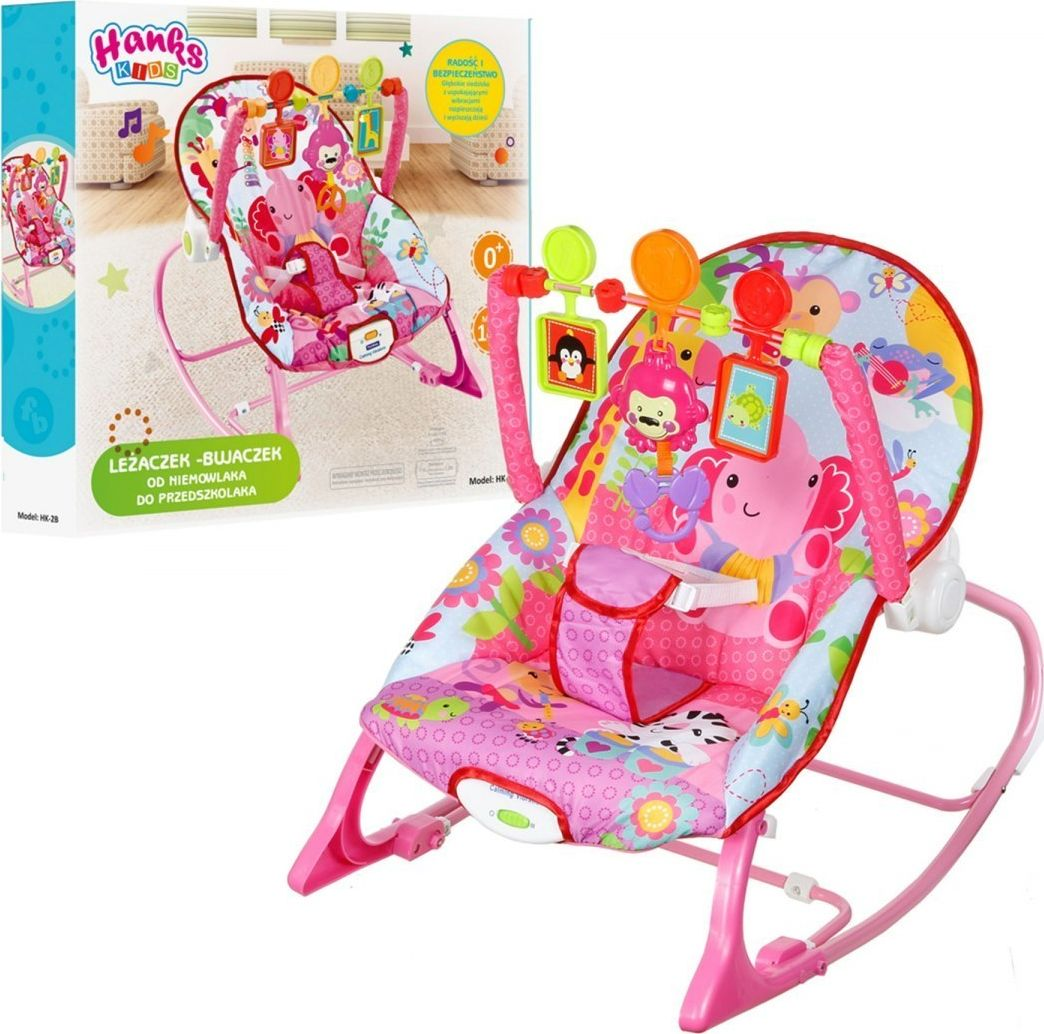 Hanks Kids BABY ROCKER CRANK VIBRATION Music UP TO 14 KG šūpuļkrēsls