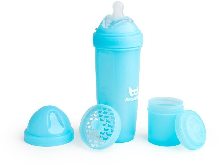 Herobility Butelka antykolkowa Niebieska 4m+ 340ml 7350004050246 aksesuāri bērniem