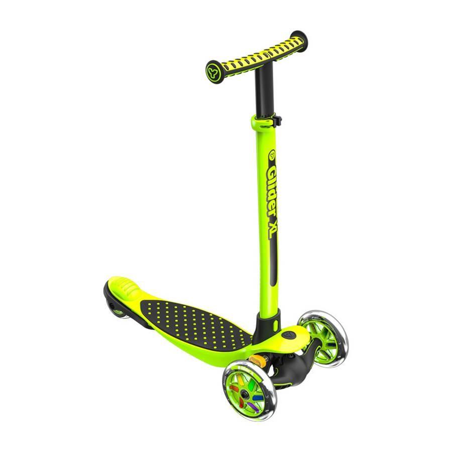 Yvolution Scooter Glider XL green Skrejriteņi