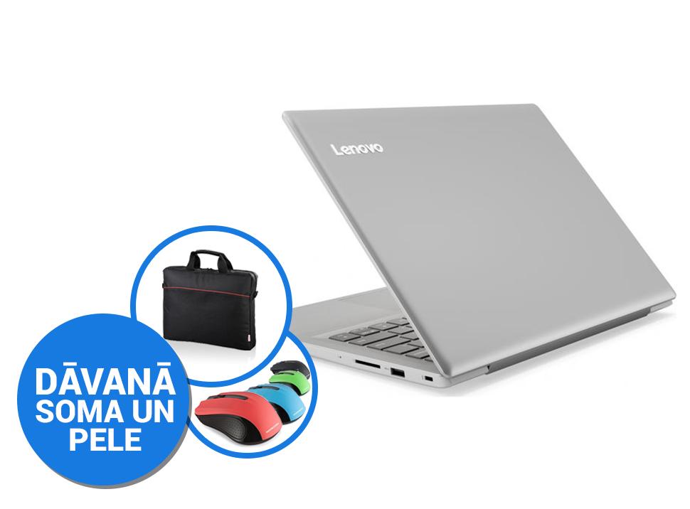 """Lenovo IdeaPad 320S-14IKB 14""""FHD Matēts/i3-7100U/4GB/128GB SSD(M2)/Win10 Silver (soma, pele) Portatīvais dators"""