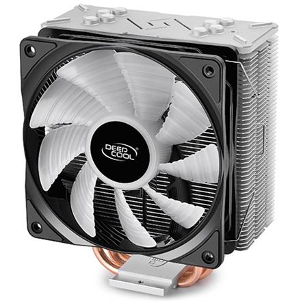 Deepcool Gammaxx GT cooler,  0.5mm thickness fins and 4 heat-pipes, 120mm RGB fan, Intel /115x/1366/20XX and AMD AM x/FM x universal, Air co procesora dzesētājs, ventilators