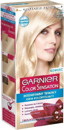 Garnier Garnier Color Sensation Krem koloryzujacy 110 Diamond U.Blond-Diamentowy superjasny blond - 0341043 0341043