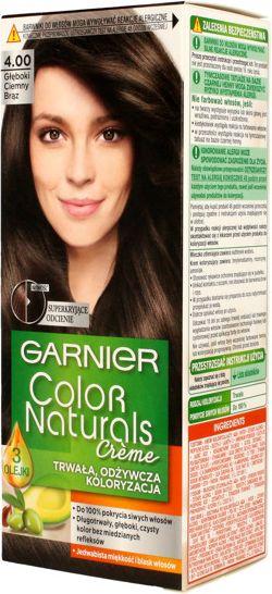 Garnier Color Naturals Krem koloryzujacy nr 4.00 Gleboki Ciemny Braz 0357520