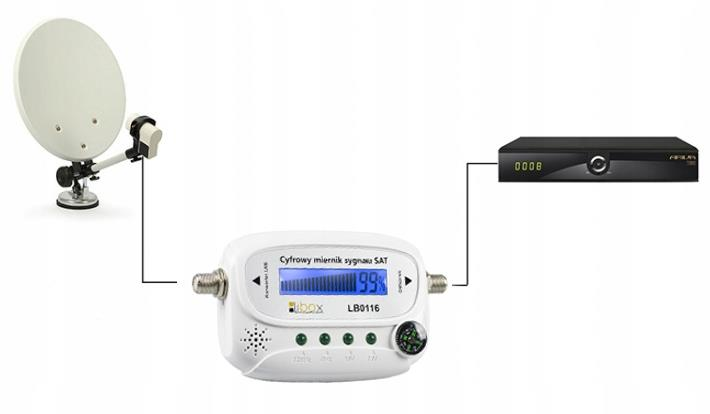 LIBOX Digital LCD Satellite Finder LB0116 Sat Finder Satelītu piederumi un aksesuāri