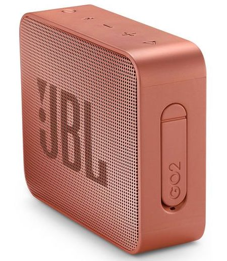 JBL Go 2, compact portable speaker with battery, IPX7 waterproof, Cinnamon pārnēsājamais skaļrunis