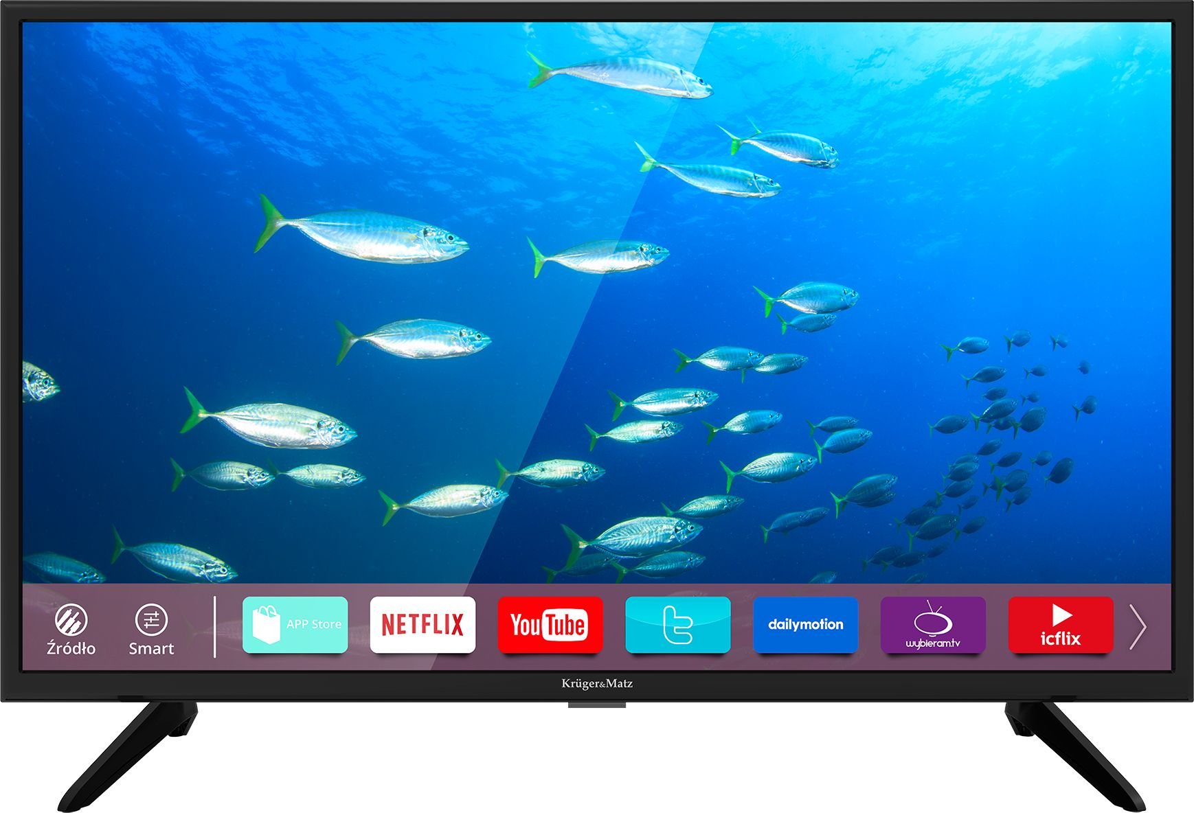 TV 40 inches A Series DVB-T2/S2 FHD Smart LED Televizors