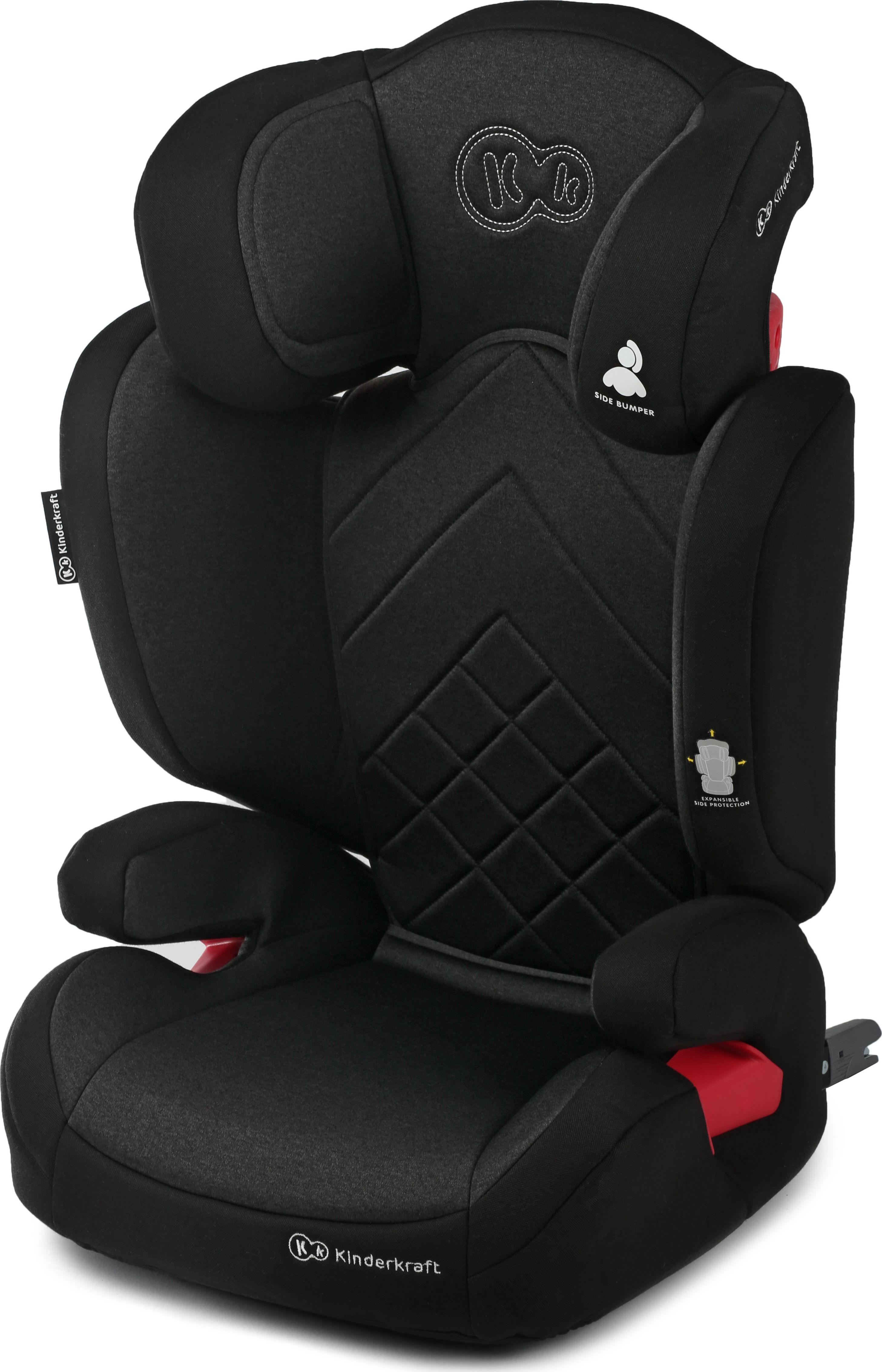 KinderKraft Xpand KKFXPANBLK0000 (ISOFIX, Seat belts; 15 - 36 kg; black color) auto bērnu sēdeklītis