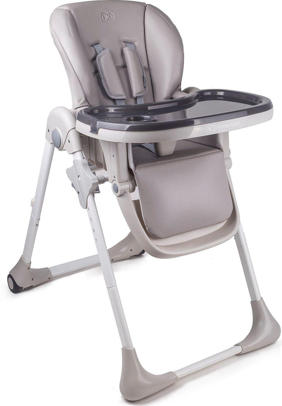 Yummy High chair + tray gray bērnu barošanas krēsls