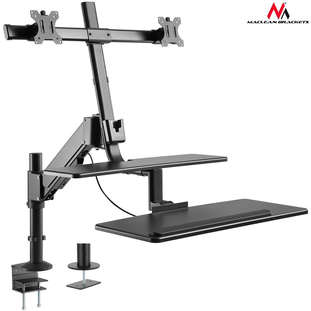 MACLEAN Sit-stand workstation desk mount MC-797