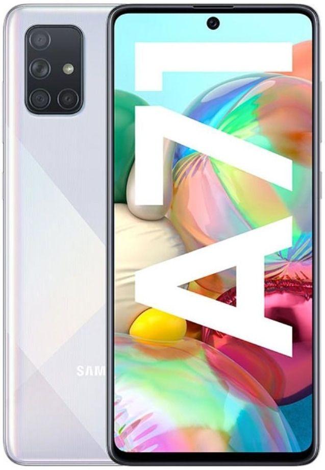Samsung  Galaxy A71 6/128GB Hazed Crush Silver SM-A715FMSUSEB Mobilais Telefons