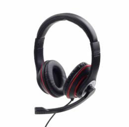 GEMBIRD MHS-03-BKRD Stereo headset black