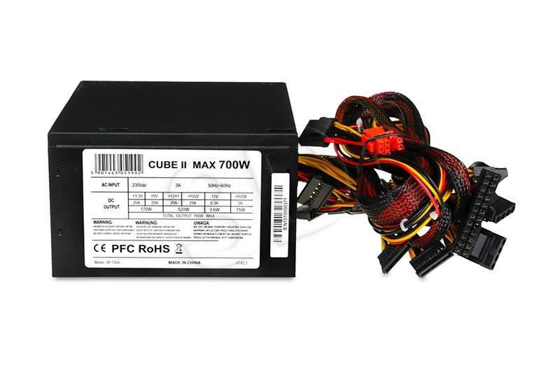 Power Supply 700 W CUBE II APFC 12 CM FAN Barošanas bloks, PSU