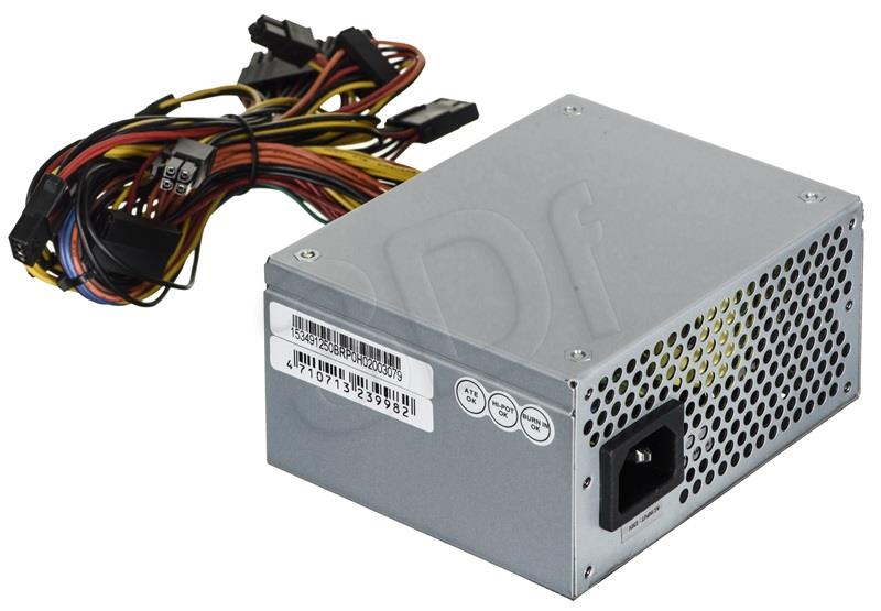 Chieftec SFX PSU SMART series SFX-250VS, 250W bulk, 8cm fan, active PFC Barošanas bloks, PSU