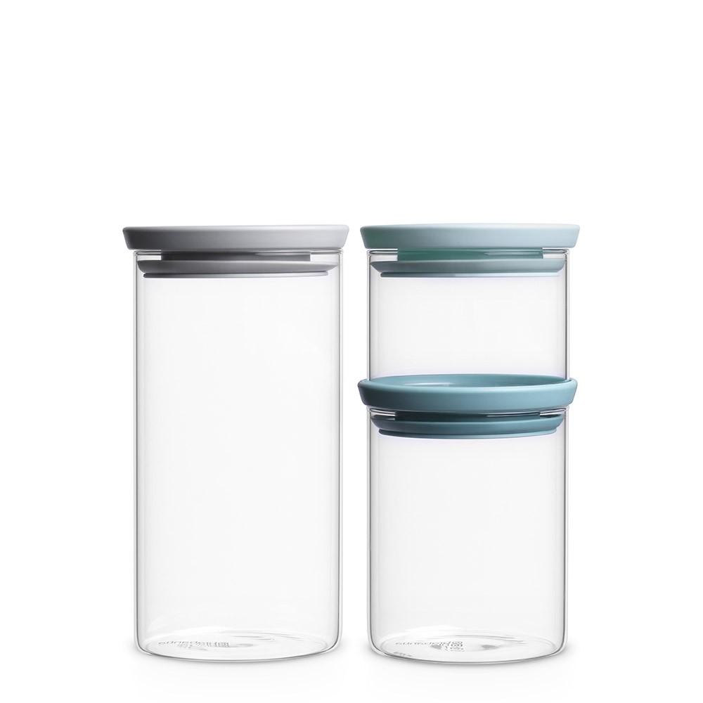 BRABANTIA stikla k rbu k-ts 3 gab (0.3 l, 0.6 l, 1.1 l) 298325 Pārtikas uzglabāšanas piederumi