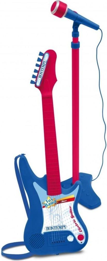 Bontempi Gitara elektryczna z mikrofonem na statywie (041-11957) DANT2496