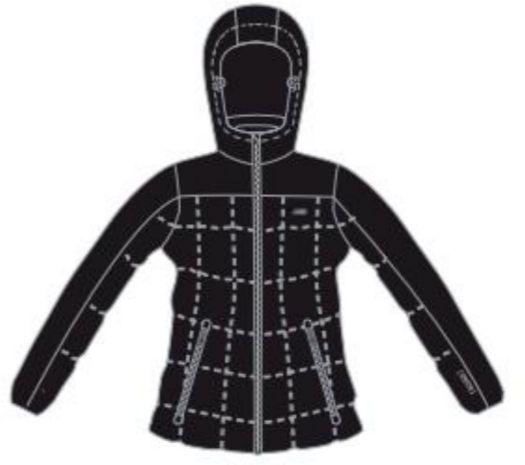 Brugi Women's ski jacket 2AIW-500 Nero r. S