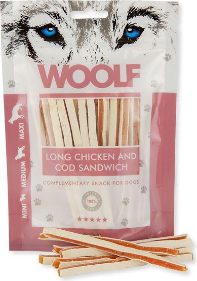 Brit WOOLF 100g CHICKEN COD SANDWICH LONG VAT005148