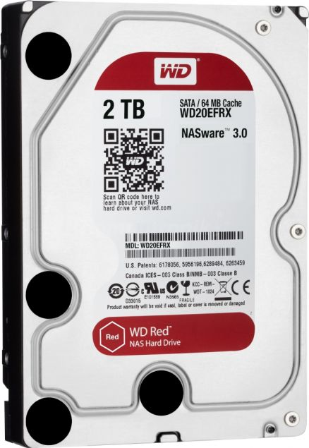 WD Red 2TB 6Gb/s SATA HDD cietais disks