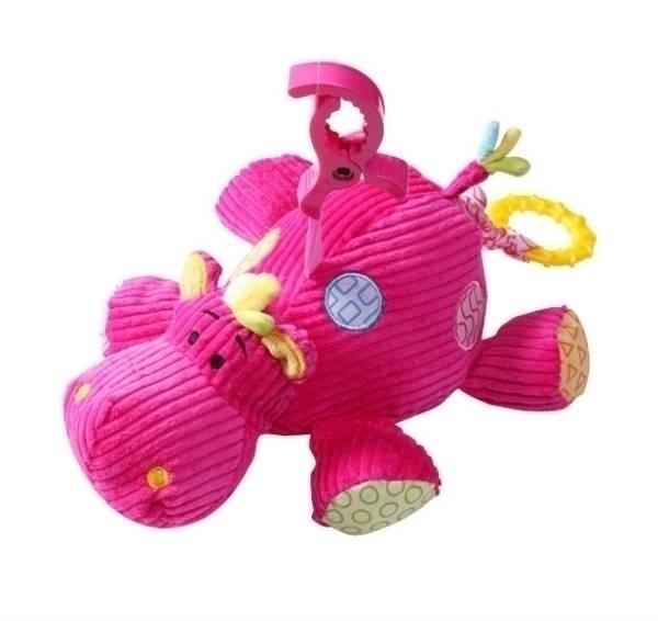 Babyono Zabawka Sztruksowa z Pozytywka - Hippo (ON0834) ON0834