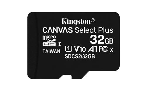 Kingston MicroSDHC 32GB Canvas Select Plus 740617298857 atmiņas karte
