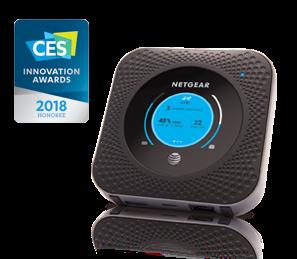 Netgear MR1100 Dual-Band (2,4 GHz/5 GHz) Gigabit Ethernet 3G 4G Black WLAN-... tīkla iekārta