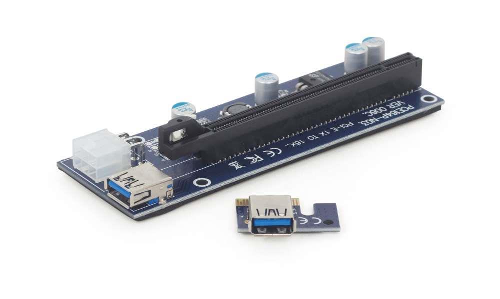 Gembird PCI Express Riser Card (6-pin power connector) karte