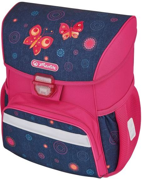 Herlitz School Bag Loop Butterfly Dreams Pink-navy blue (242241) Tūrisma Mugursomas