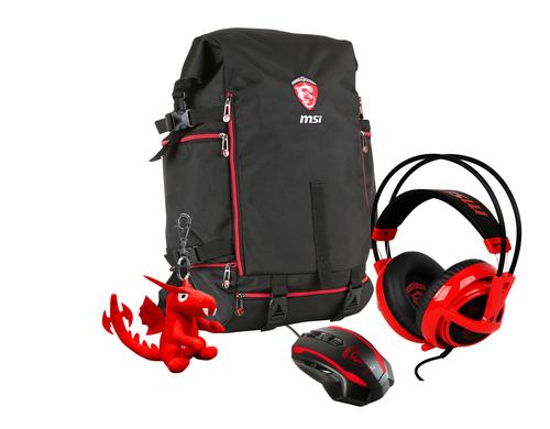 MSI Gaming Winter Xmas Pack backpack Black,Red 957-1XXXXE-029 austiņas