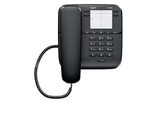SIEMENS EUROSET DA310 Black telefons