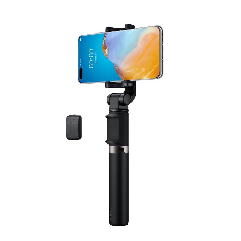 Huawei AF15 PRO Universāls Selfie Stick ar Bluetooth Tālvadības pulti un Tripodu izvelkamu Melns Selfie Stick