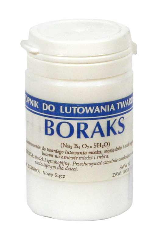 Borax for soldering with hard 0.5 kg brass solders BOR 500