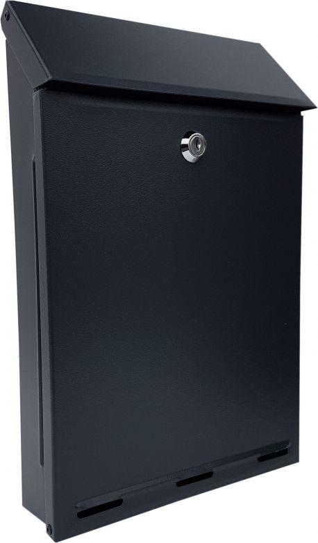 Letter box A-4 black matt (SKL A4 505) Dārza mēbeles