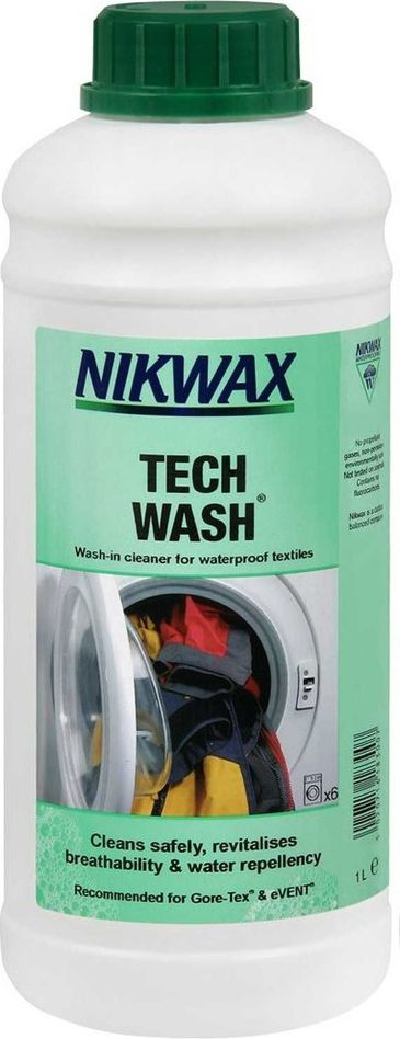 Nikwax Tech Cleaner for rainwear and Tech Wash 1L equipment (NI-41)