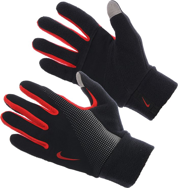 Nike Men's Thermal Tech Run Gloves black-red s