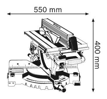 Ukosnica pila uniwer. GTM 12JL 1800W 305mm  BOSCH Elektriskais zāģis