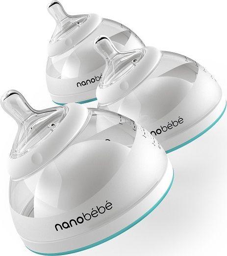 Nanobebe Butelka do karmienia / przechowywania pokarmu 150 ml 3 szt - turkusowa NABE-1010312 aksesuāri bērniem
