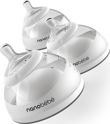Nanobebe Butelka do karmienia / przechowywania pokarmu 150 ml 3 szt - szara NABE-1010315 aksesuāri bērniem