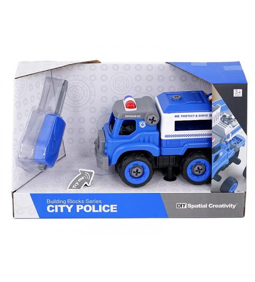 Adar Konstruktors Policijas masīna ar instrumentiem, ar skaņu 20 cm 507081 Rotaļu auto un modeļi