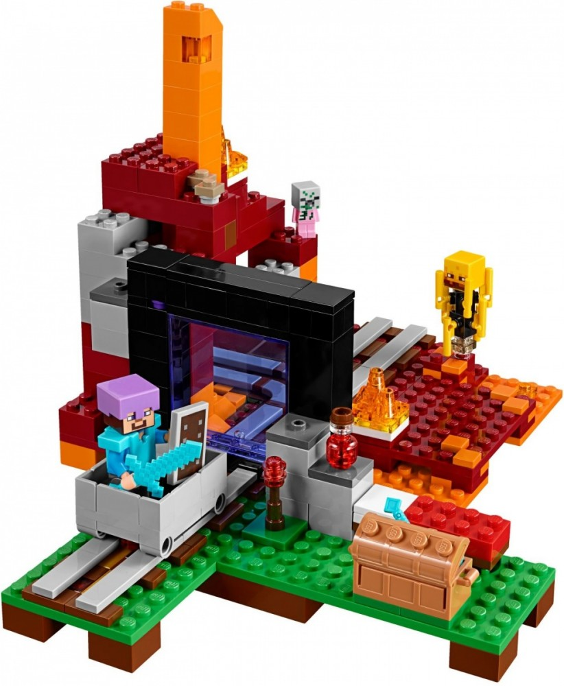 LEGO Minecraft 21143 The Nether Portal LEGO konstruktors