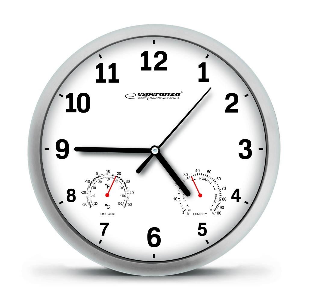 Esperanza EHC016W WALL CLOCK -  LYON - WHITE Sienas pulkstenis