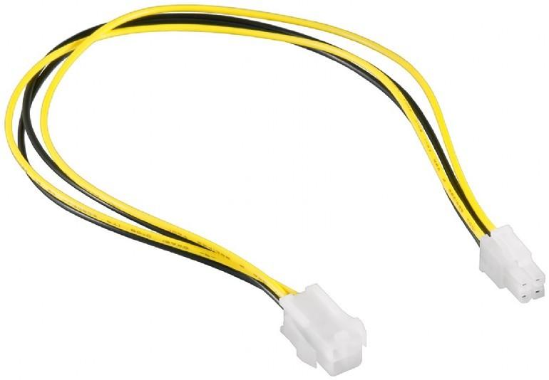 Internal power extension ATX / 4pin / 0.3m kabelis, vads