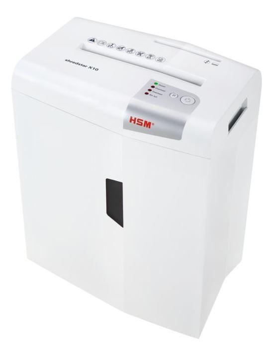 HSM Shredstar X10 - cross cut 4,5x35mm/ 10 sheets 80 g/ 20 l bin/ P-4 papīra smalcinātājs